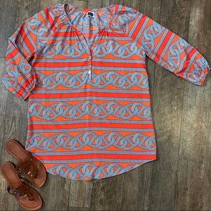 Mud Pie Reese Tunic Dress Tangerine Chains L